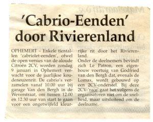 Cabrio-eenden door Rivierenland