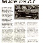 Van den Bergh motoren adres voor 2cv